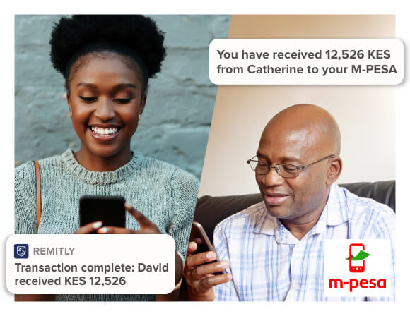 send to Kenya with M-pesa