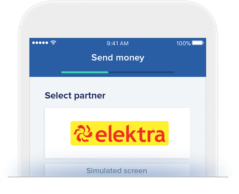 Send money to Elektra
